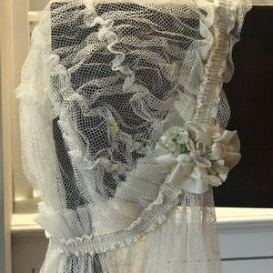 1920s Wedding Veil, Juliette Cap